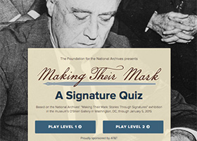 National Archives: Signature Quiz